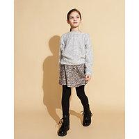 Свитер для девочки MINAKU, рост 116-122 см, цвет серый