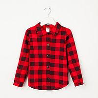 Рубашка детская «Техас», цвет красный, рост 122 см
