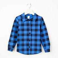 Рубашка детская «Техас», цвет синий, рост 122 см
