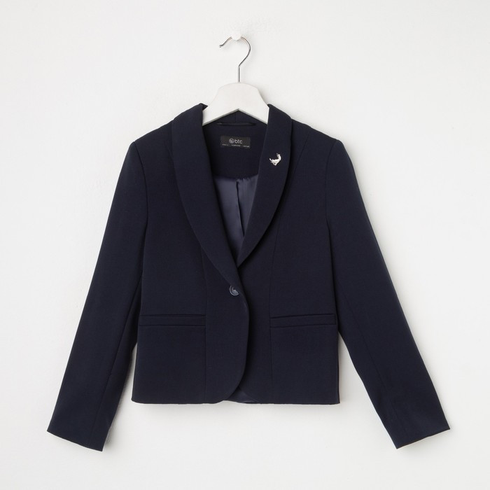 Жакет для девочки, цвет тёмно-синий, рост 146 см - фото 1