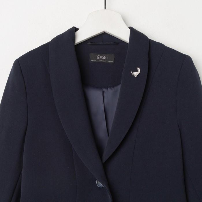 Жакет для девочки, цвет тёмно-синий, рост 146 см - фото 2
