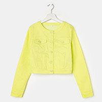 Куртка для девочки, цвет салатовый, рост 158 см