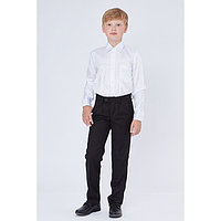 Брюки для мальчика, прямые с посадкой на талии, черный, рост 140 (34/S)