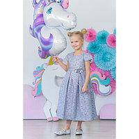 Платье нарядное для девочки MINAKU «Офелия», рост 116 см, цвет голубой/серебро