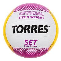 Мяч волейбольный Torres Set, V30045, размер 5, TPU, клееный