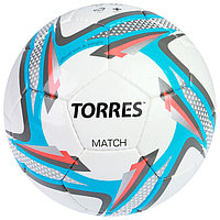 Мяч футбольный Torres Match, F30025, размер 5, 32 панели, PU, ручная сшивка
