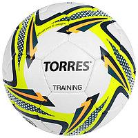Мяч футбольный Torres Training, F30054, размер 4, 32 панели, PU, ручная сшивка