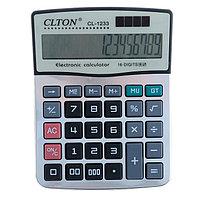 Калькулятор настольный, Clton CL-1233, 16-разрядный, двойное питание