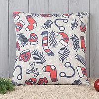 Подушка декоративная с фотопечатью «Новогодние каникулы» 40х40 см
