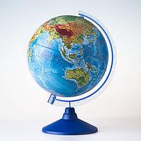 Глoбус физико-политический рельефный «Классик Евро», диаметр 320 мм,с подсветкой от батареек