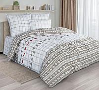 Комплект постельного белья Scandinavian winter, орнамент, белый
