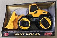 Машинка трактор Городской транспорт желтый