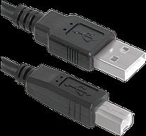 Кабель Defender USB04-17 USB 2.0  AM-BM 5м  BULK (пл. пакет) 83765