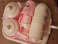 """Набор детской посуды """"Хозяюшка"""" с подносом на 4 персоны (V6) (29 элементов) (в сеточке)"""