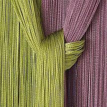 Штора-лапша веревочная «Кисея-занавес из нитей» {3 x 3 метра} (Золотой / с бусинами), фото 2