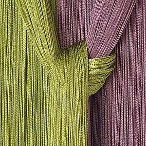 Штора-лапша веревочная «Кисея-занавес из нитей» {3 x 3 метра} (Золотой / без декора)