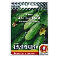 """Семена Огурец """"Изящный"""" серия Кольчуга, раннеспелый, пчелоопыляемый, 0,5 г"""