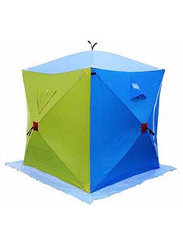 "Палатка Куб ""CONDOR"" зимняя, двухслойная, размер 1,65 х 1,65 х 1,85, двухцветная, вес 12 кг.JX-0126"