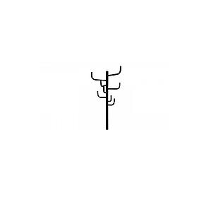 Напольная вешалка для прихожей Табыс Кактус GC 0413-2 (черный цвет), фото 2