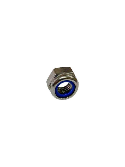 Гайки шестигранные DIN 985 со стопорным нейлоновым кольцом