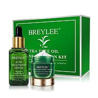 Сыворотка и крем BREYLEE Tea Tree от акне