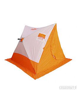 Палатка зимняя СЛЕДОПЫТ 2-скатная, Oxford 210D PU 1000, цв. бело-оранж. PF-TW-19