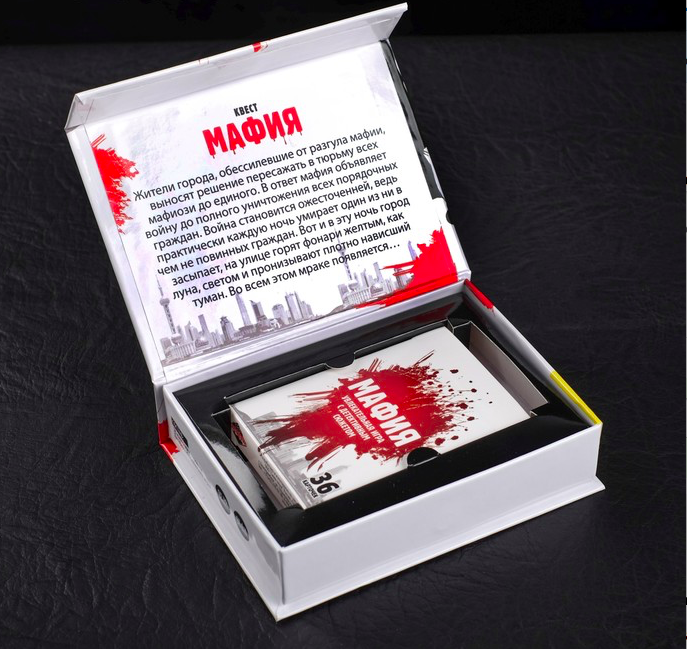 игра «Мафия», подарочное издание с картами - фото 3