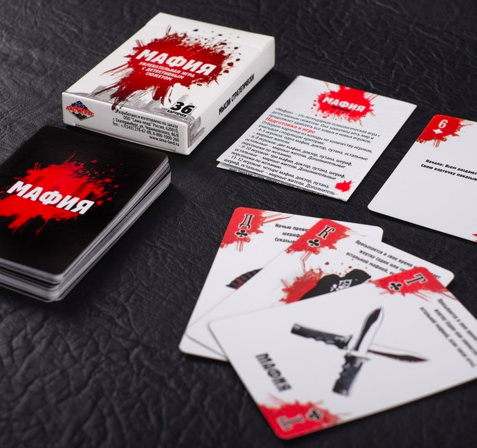 игра «Мафия», подарочное издание с картами - фото 4