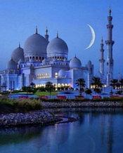 """Картина стразами на подрамнике (50х60 см)""""Мечеть под луной"""" MYL-267"""