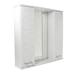 """Шкаф - зеркало для ванной комнаты """"Ромб"""""""
