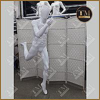 Мужской манекен спортивный, бегущий, белый