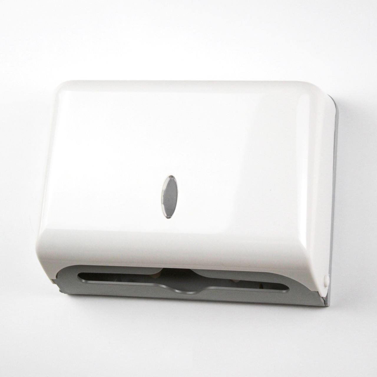 Диспенсер GL136 для Z полотенец пластмассовый, белый.