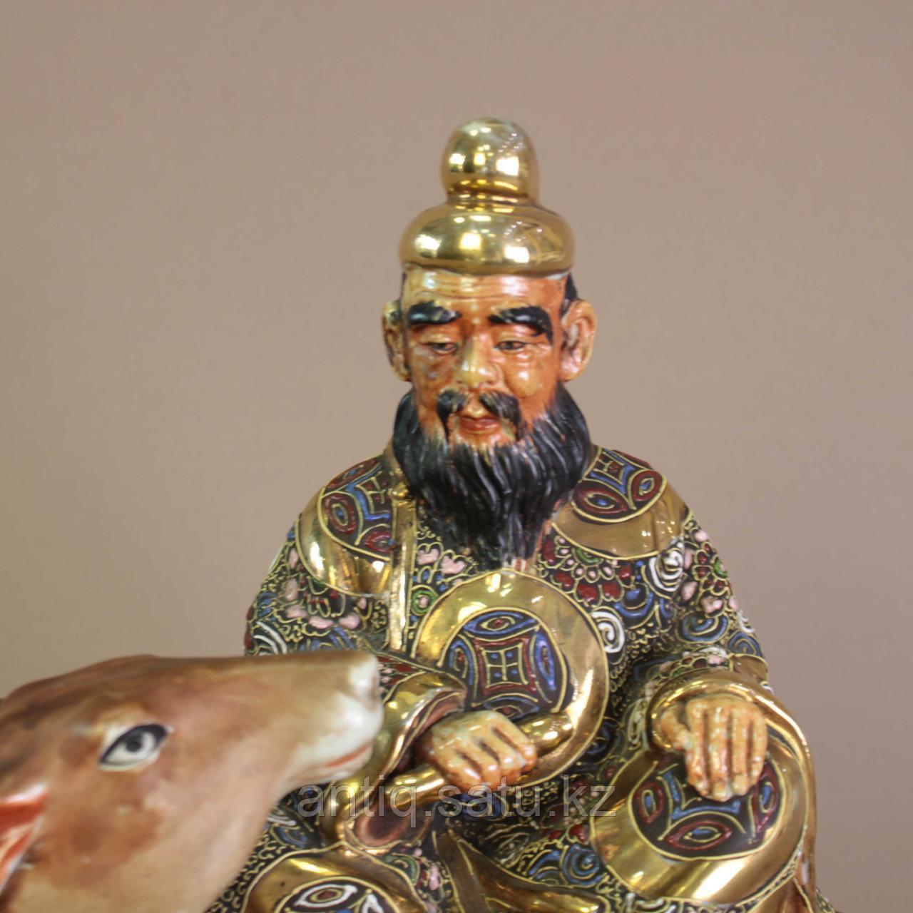 Дзюродзин на олене Япония. Начало ХХ века - фото 3