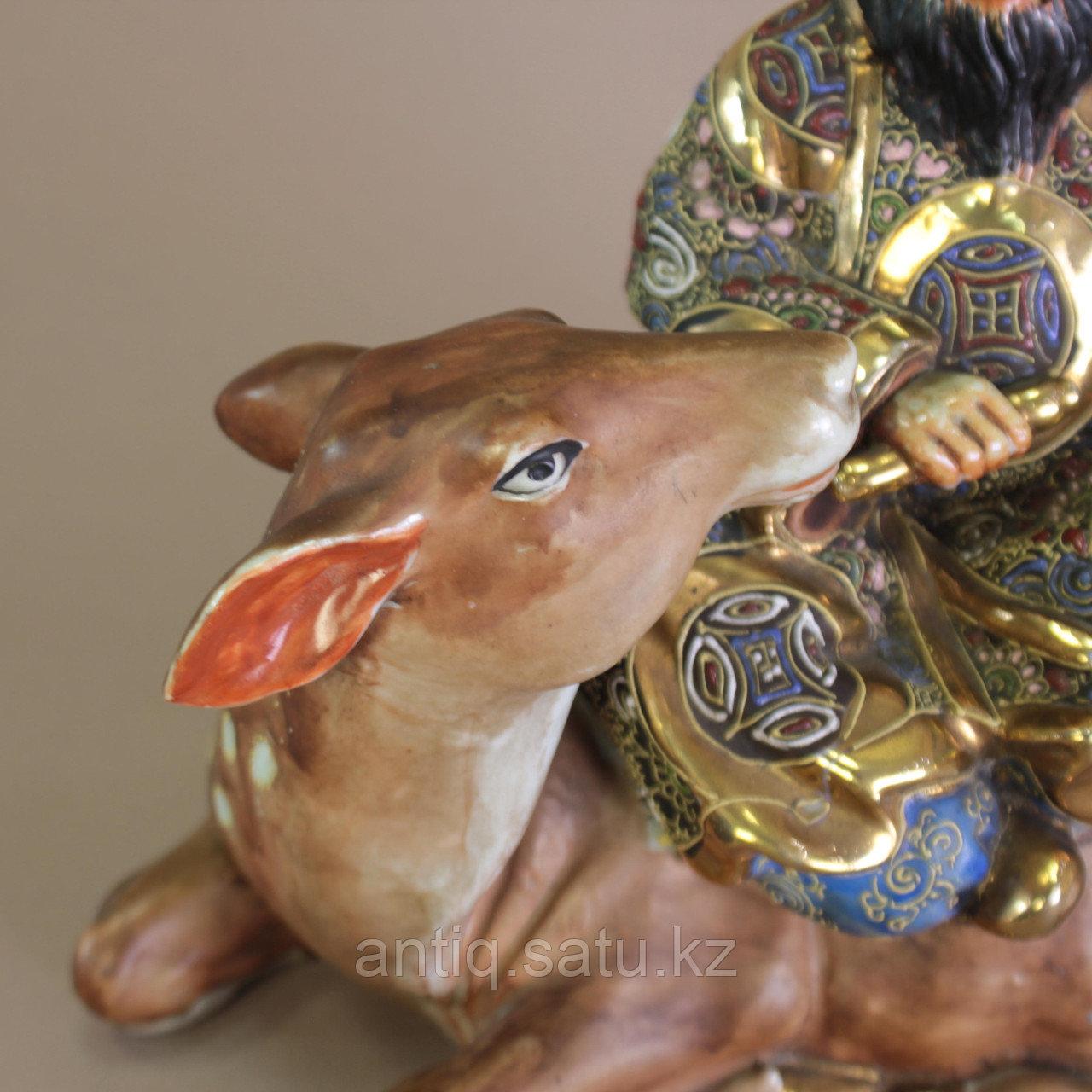 Дзюродзин на олене Япония. Начало ХХ века - фото 4