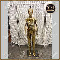 Детский манекен, золотистый глянцевый, полипропиллен