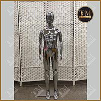 Детский манекен, серебристый глянцевый, полипропиллен