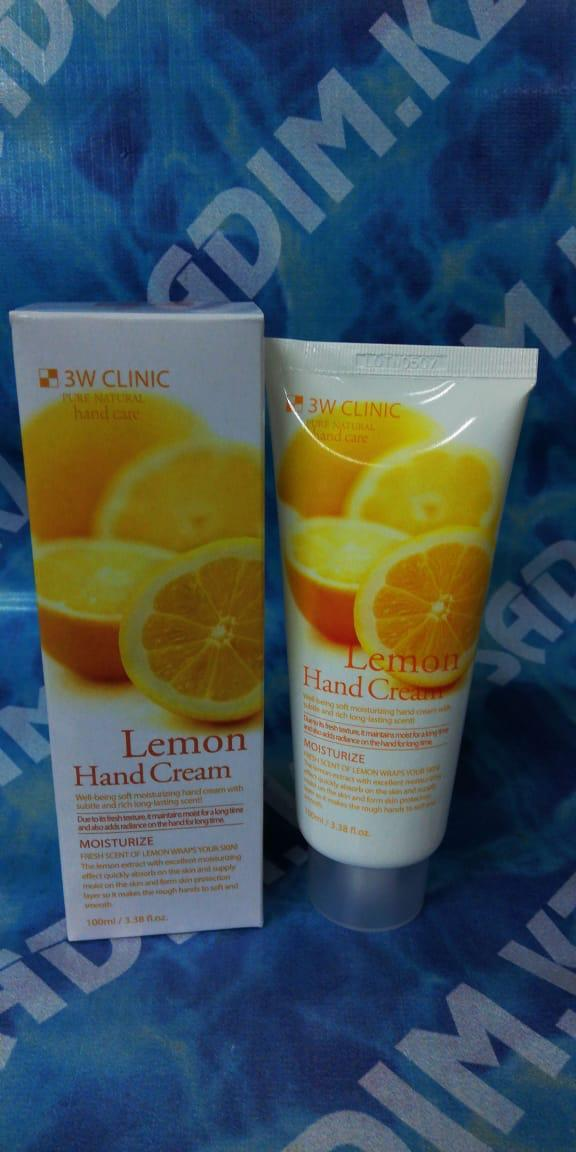 3W Clinic Lemon Hand Cream 100 ml -  Увлажняющий крем для рук с экстрактом лимона