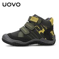 Ботинки для мальчика Uovo c принтом Графит, 33