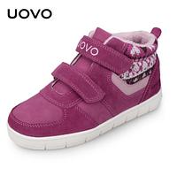 Зимние ботинки для девочек Uovo Малиновый, 30