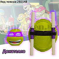"""Игровой набор Черепашек Ниндзя """"Ниндзя Донателло"""" с панцирем маской и оружием"""
