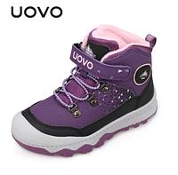 Зимние ботинки Uovo унисекс Фиолетовый, 34