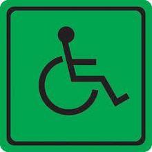 """Табличка """"Знак доступности для инвалидов всех категорий"""" 150*150"""