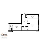 2 комнатная квартира в ЖК Nova City на Рыскулбекова 60.53 м², фото 1