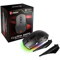 Мышь MSI Clutch GM70 GAMING Mouse USB2.0/RGB подстветка/Вес 129г./кабель 2м/Черный