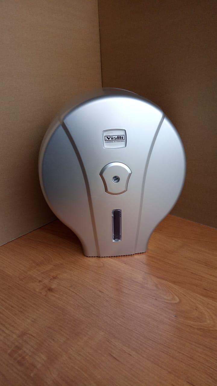Диспенсер настенный Vialli  для туалетной бумаги Джамбо