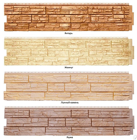 Фасадные панели Я-Фасад Grand Line Скала, Крымский сланец, Демидовский кирпич, Екатерининский камень