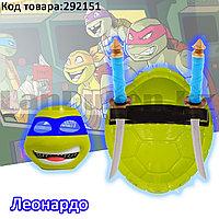 """Игровой набор Черепашек Ниндзя """"Ниндзя Леонардо"""" с панцирем маской и оружием"""