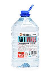 Антисептик для рук «ANTIVIRUS» от производителя, ПЭТ бутылка объёмом 5 литров