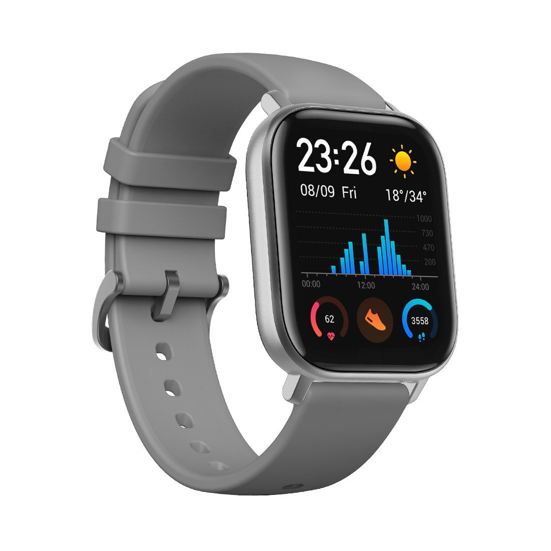 Смарт часы, Xiaomi, Amazfit GTS A1914, Серый (Lava Grey)
