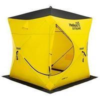 Палатка зимняя 'ТОНАР' Helios EXTREME V2.0 куб (широкий вход), 1,8 x 1,8 м, цвет жёлтый/чёрный